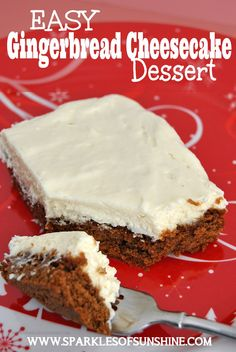 Check out this easy but yummy Gingerbread Cheesecake Dessert recipe from Sparkles of Sunshine. Perfect for the holidays or any time of year!