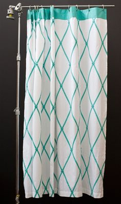 This Ginny shower curtain design by Indian Rose is 1oo% preppy!