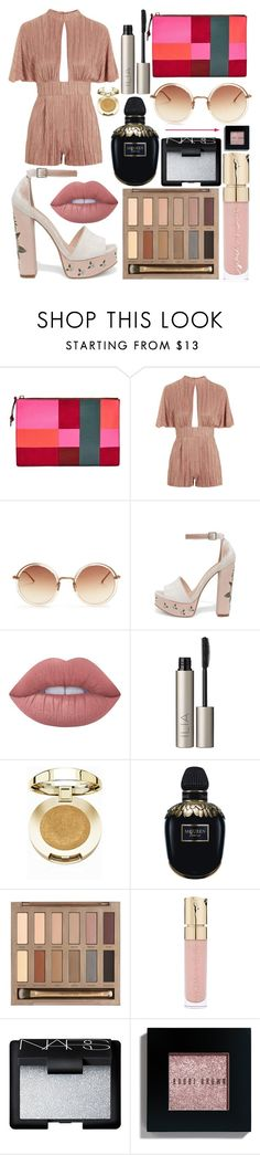 """Pink is the New Orange"" by isabellemcgee ❤ liked on Polyvore featuring FOSSIL, Linda Farrow, Chinese Laundry, Lime Crime, Ilia, Milani, Alexander McQueen, Urban Decay, Smith & Cult and NARS Cosmetics"