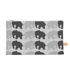 "NL Designs ""Elephants On Parade"" Gray Animals Everything Bag"