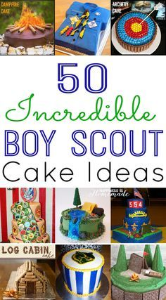 50 Incredible Boy Scout Cake Ideas - great ideas for den parties or the Blue & Gold Banquet!