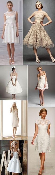 Los vestidos de novia cortos son una alternativa diferente y original para vuestra boda.