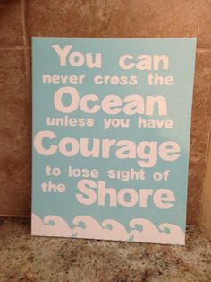 Inspirational quote painted on canvas