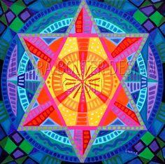 Art Print / Star Mandala-Print Reproduction