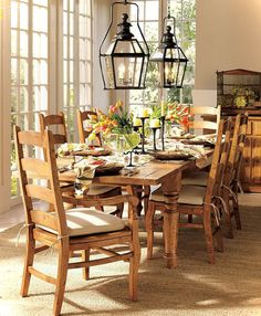Dining Room Lighting Ideas.  This is my exact table and chairs!