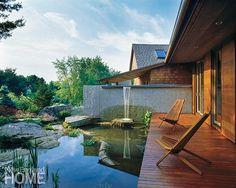 Robinson + Grisaru Architecture PC (Desire To Inspire) Small House Design, Dream Home Design, Outside Living, Outdoor Living, Outdoor Spaces, Outdoor Decor, Garden Pool, Small Patio, Interior Design Inspiration