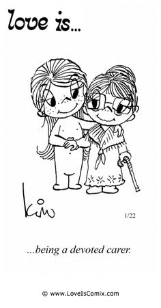 Love Is Cartoon 1970 | Love Is... being a devoted carer.