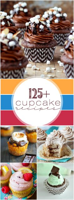 125+ Cupcake Recipes #cupcakes #dessert