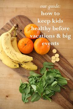 A 'How to Keep Kids Healthy' Guidebook — great tips for before vacations/big events!