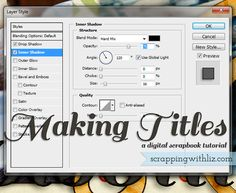 Scrapping with Liz: Making Your Own Titles
