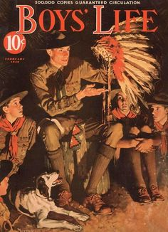 """Boys' Life - Campfire Story (1936) """"Healthy moral values makes for happier kids."""""""