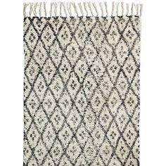 Nordal Diamonds Vloerkleed 75 x 150 cm - Zwart/Wit