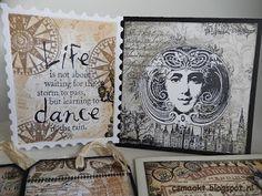 vintage kaarten en labels gemaakt