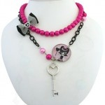 Bright and colorful Queen of Hearts necklace by Locketship, one of my favorite jewelry designers.
