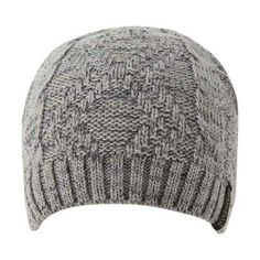 74a17570dae Men s Perry Ellis Marled Yarn Cable-Knit Beanie Alloy