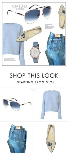 """Blue Ways"" by smartbuyglasses ❤ liked on Polyvore featuring Tom Ford, CÉLINE, Nicholas Kirkwood, Skagen and Blue"