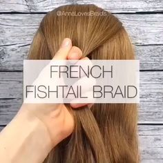 French Fishtail Braid Video Tutorial - 2019 Hairstyle Trends Today I'm excited to be sharing this gorgeous french fishtail braids. This is such a great style for summer and the different styles can be worn for so many different occasions! Box Braids Hairstyles, Braided Hairstyles Tutorials, Cool Hairstyles, French Plait Hairstyles, French Braid Tutorials, Easy Beach Hairstyles, Fishtail Braid Hairstyles, Cute Hairstyles For Kids, Easy Hairstyles For School