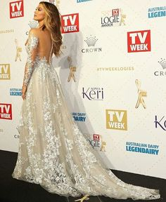 Media by Paolo Sebastian (@paolo_sebastian): Delta Goodrem wearing a platinum Paolo Sebastian gown at the 2016 Logie Awards. Over one hundred hours of hand sewing went into the construction of this gown, featuring hand-appliquéd beaded embroidery and delicate tulle sleeves. #PaoloSebastian #Logies2016 #TheSnowMaiden #Couture #Fashion @deltagoodrem