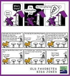 Two #jokes for kids. The interrupting cow and duck food jokes from birkatchaverim