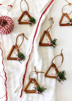 get crafty with these cinnamon stick ornaments diy Cinnamon Ornaments — Tag & Tibby Design Diy Gifts For Christmas, Diy Christmas Ornaments, Homemade Christmas, Simple Christmas, Holiday Crafts, Christmas Holidays, Christmas Decorations, Christmas Tree, Christmas Design