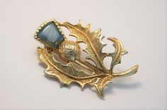 Vintage Scottish thistle brooch by chicvintageboutique on Etsy