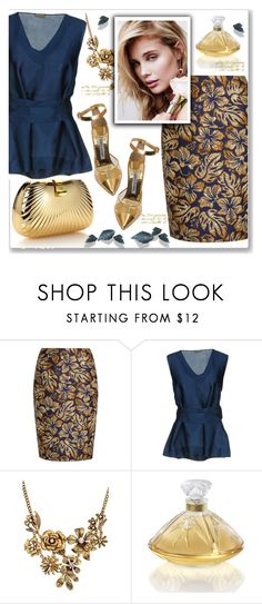 """Damask"" by paperdolldesigner ❤ liked on Polyvore featuring Prada, Malìparmi, WithChic, Lalique, contestentry and polyPresents"
