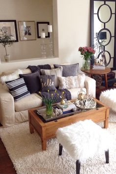 Jan 7 How To Decorate For Winter Simple ColorsCozy Living RoomsHow DecorateDecorating TipsApartment