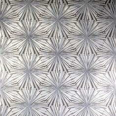 Meteor Flower - Argentum on Silver Mylar Wallpaper by Flavor Paper from Vertigo Home