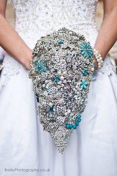 Turquoise Tear-drop Brooch Bouquet