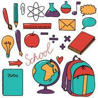 Desenhos de materiais escolares para colorir