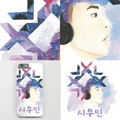 #Exo  #watercolor #xiumin https://society6.com/product/snow-xiumin_print#1=45