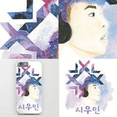 #Exo  #watercolor #xiumin https://society6.com/product/snow-xiumin_print#1=45