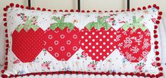 Free Strawberry Quilt Patterns | Click on the pictures to make them bigger