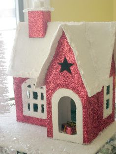 Happy At Home: Tutorial: Glitter House