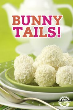 These bunny tails are the perfect Easter treat for kids! #easter