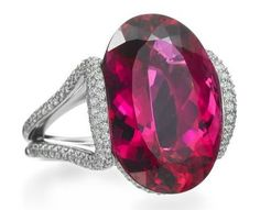 Mark Patterson Rubellite and Diamond Ring