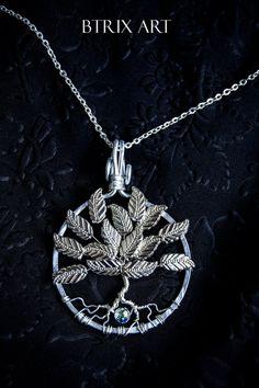 Albero della Vita con foglie  Wire Jewellery di BtrixArt su Etsy