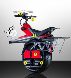 Wow, where was this when I was young and crazy, It's a one-wheeled, self-balancing motorcycle that will take you places - crazy places.