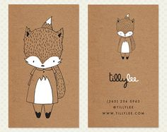 This double sided business card design was created with a little fox character. By the time your name is added it will look like it was created with you in mind. I have hand drawn quite a few of these little characters, each one with a different fun theme. To see them all, click on this link: www.etsy.com/shop/CrookedLittlePixel/search?search_query=kawaii+character WHAT YOU WILL RECEIVE With this kit you will get two files (one back image & one front image) customized...