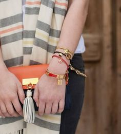 Spartina Bangles and Clutch from Borsheims!