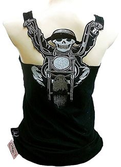 45811413f1fee Rockabilly-Punk-Rock-Baby-Woman-Black-Tank-Top-. Biker Girl Bling