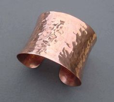 Copper Cuff Bracelet Hammered Dimple Distressed by SeventhWillow