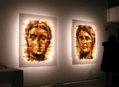 Translucent brown packing tape by Mark Khaisman. -  http://www.art-competition.net/