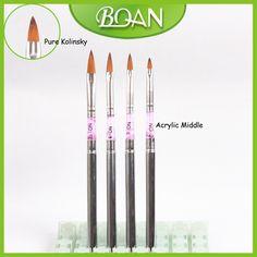 Free Shipping Professional Acrylic Handle Brush Acrylic Nail Products Acrylic Brush 10#