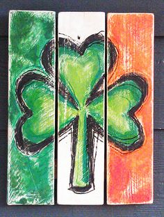 Shamrock Irish Flag St Patrick's Day by HotShotsShotGlasses