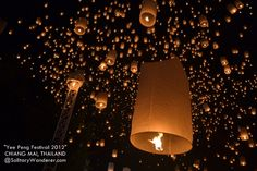 Yee Peng/ Loy Krathong, the Floating Lantern Festival of Chiang Mai, from Solitary Wanderer. Definitely on the bucket list!