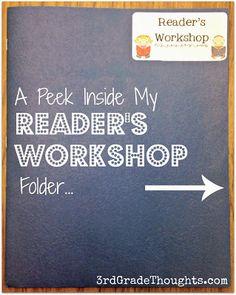 3rd Grade Thoughts: A Peek Inside My Reader's Workshop Folder + Reading Log Freebie!
