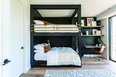 Bunk Bed Rooms, Adult Bunk Beds, Bunk Beds Built In, Modern Bunk Beds, Bunk Beds With Stairs, Cool Bunk Beds, Queen Bunk Beds, Bunk Beds For Adults, Black Bunk Beds