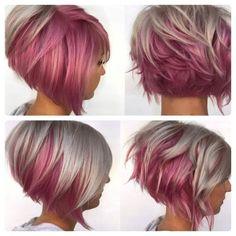The pink 😍 pixie hair color, hair colour, haircut and color, pink hair, bl Pretty Hairstyles, Girl Hairstyles, Hairstyle Short, Natural Hairstyles, Short Hair Cuts, Short Hair Styles, Short Pixie, Fun Hair Cuts, Short Purple Hair