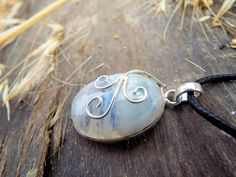 Moonstone Pendant Silver Handmade Necklace Sterling by Laurelnymph
